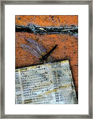 Flightpage Framed Print by Leon Hollins III
