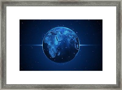 Flights And Earth Framed Print