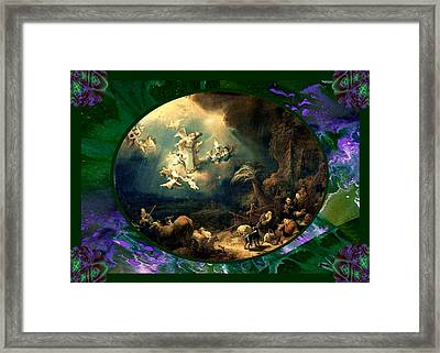 Flink Vintage Angels Framed Print