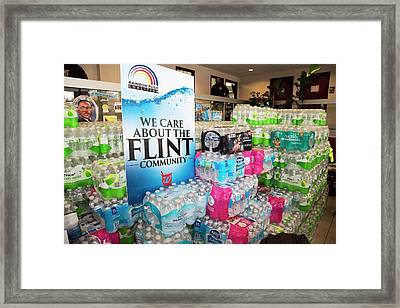 Flint Bottled Water Donation Framed Print by Jim West