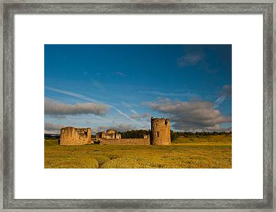 Flint Castle Framed Print by David Ross