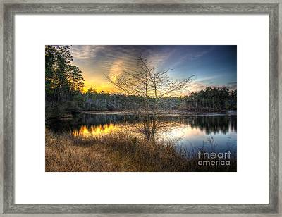 Flint Creek Sundown Framed Print