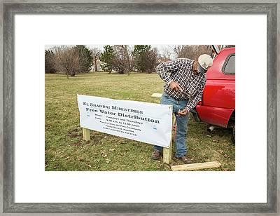 Flint Drinking Water Distribution Framed Print by Jim West