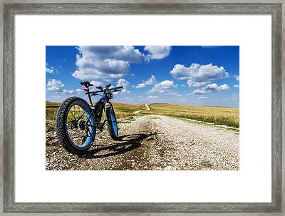 Flint Hills Fall Fatbike Ride Framed Print