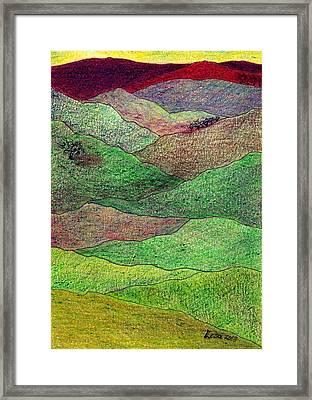 Flint Hills Fall Framed Print