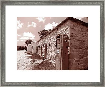 Flint Hills Gas Station Framed Print by Ed Golden