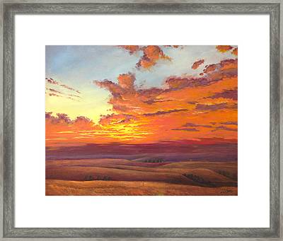 Flint Hills Magic Framed Print