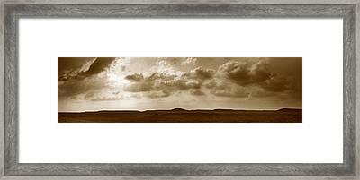 Flint Hills Panorama Framed Print