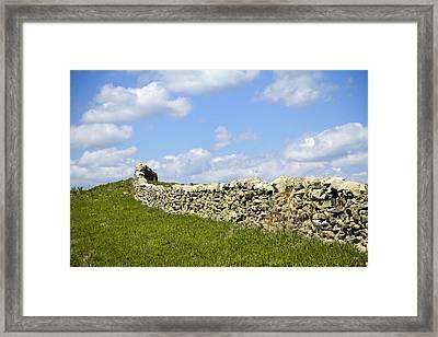 Framed Print featuring the photograph Flint Hills Rock Fence by Steven Bateson
