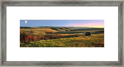 Flint Hills Shadow Dance Framed Print by Rod Seel