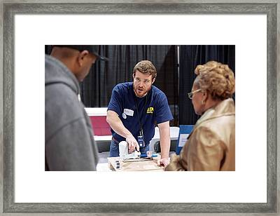 Flint Water Filter Demonstration Framed Print by Jim West