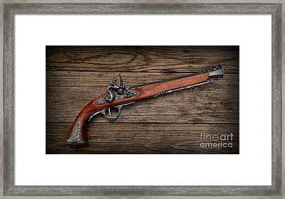 Flintlock Blunderbuss Pistol Framed Print by Paul Ward