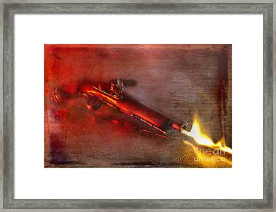Flintlock Pistol Framed Print by Dianne Phelps