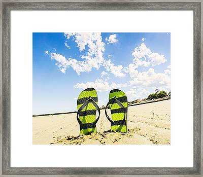 Flip Flop Stop Framed Print by Jorgo Photography - Wall Art Gallery