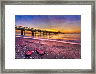 Flip-flops Framed Print by Debra and Dave Vanderlaan