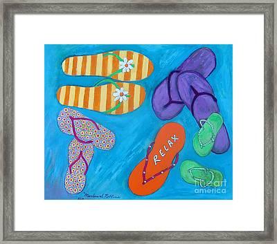 Flip Flops Framed Print by Marlene Robbins