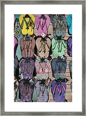 Flip Flops Framed Print by Peter Tellone