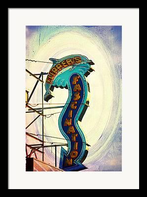 Flippers Facination - Wildwood Boardwalk Framed Prints