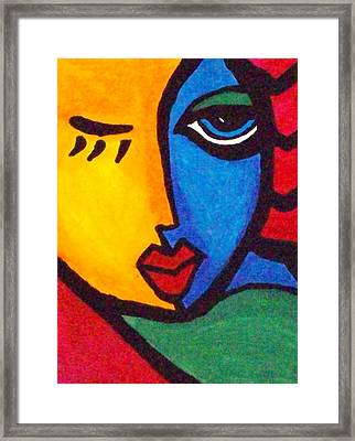 Flirt With Colour Framed Print