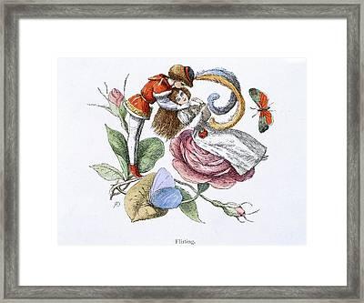 Flirting Framed Print by British Library