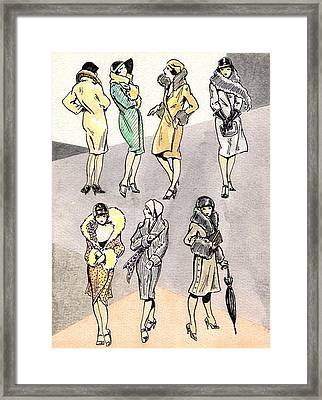 Flirty Flappers Framed Print by Mel Thompson