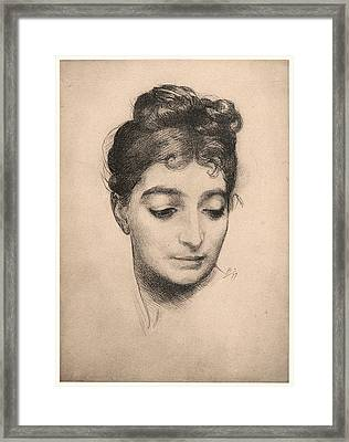 Félix Bracquemond French, 1833 - 1914. Portrait Framed Print by Litz Collection