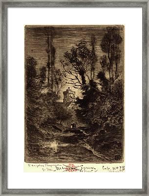 Félix-hilaire Buhot, French 1847-1898, La Ronde De Nuit Framed Print