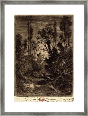 Félix-hilaire Buhot French, 1847 - 1898, La Ronde De Nuit Framed Print