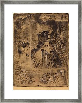 Félix-hilaire Buhot French, 1847 - 1898, La Traversée Framed Print