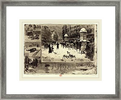 Félix-hilaire Buhot French, 1847-1898, Lhiver à Paris Framed Print by Litz Collection