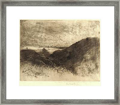 Félix Hilaire Buhot French, 1847 - 1898. The Cliff Framed Print