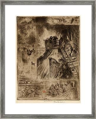 Félix-hilaire Buhot, La Traversée The Passage, French Framed Print