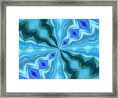 Float Abstract Pattern 1 Framed Print by Angelina Vick