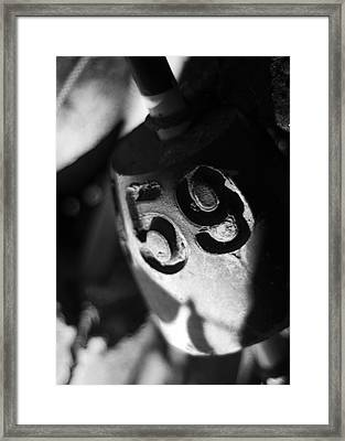 Framed Print featuring the photograph Float Number 59 - Black And White by Rebecca Sherman