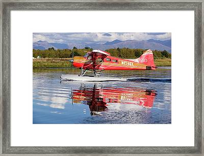 Float Plane Flying Into Anchorage Framed Print by Ashley Cooper