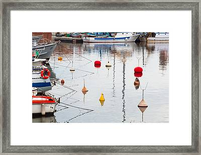 Float The Boats Framed Print