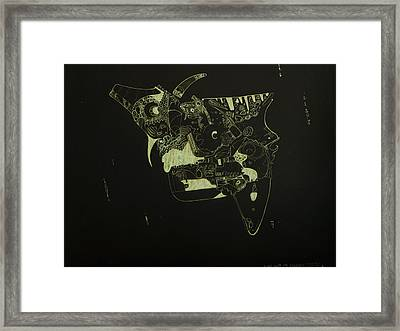 Float With The Current Framed Print by Guillermo De Llera