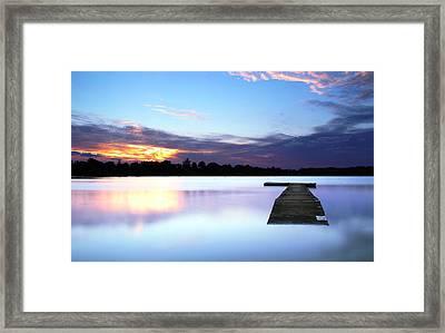Floater Framed Print