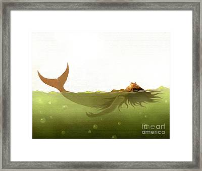 Floater Framed Print by Robert Foster