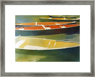 Floaters Framed Print by Kris Parins