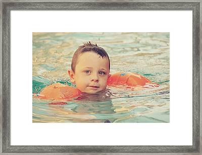 Floaties Framed Print