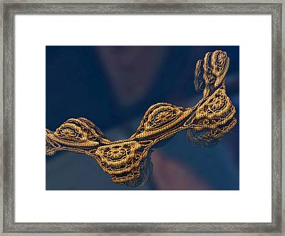 Framed Print featuring the digital art Floating All Alone by Melissa Messick