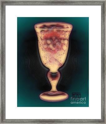 Floating Beverage Glass Framed Print