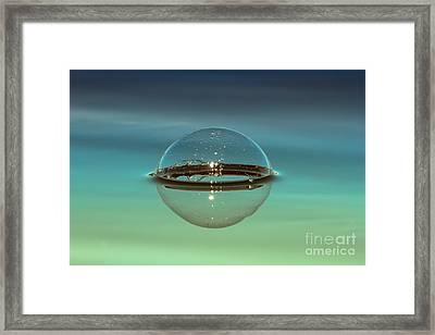 Floating Bubble Framed Print