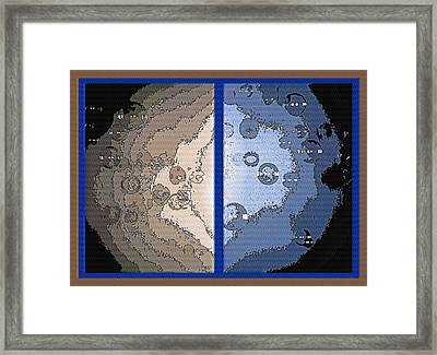 Floating Bubbles Abstract Diptych Framed Print by Steve Ohlsen