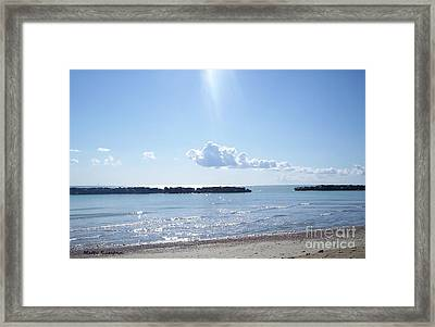 Framed Print featuring the photograph Floating Clouds by Ramona Matei