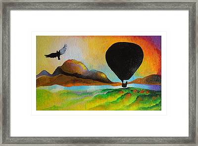 Floating Down River Framed Print