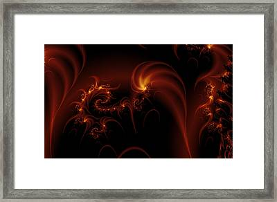 Floating Fire Fractal Framed Print