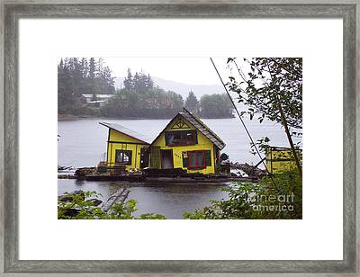 Floating Fish Barge Framed Print by Frances  Dillon