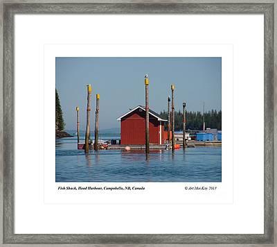 Floating Fish Shack Bay Of Fundy Nb Framed Print